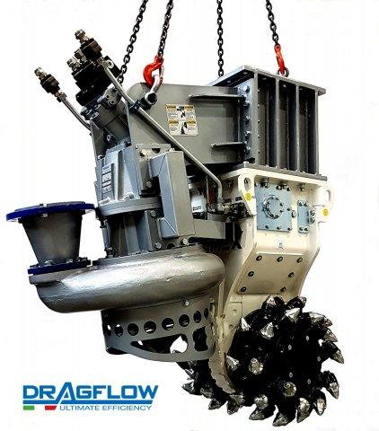 slurry pump HY85/160B with custom cutter head