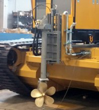 Azimutal stern thruster